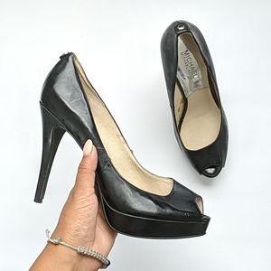 Michael kors black high heels size 7.5